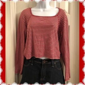Red & White Striped Tommy Jeans Crop Top
